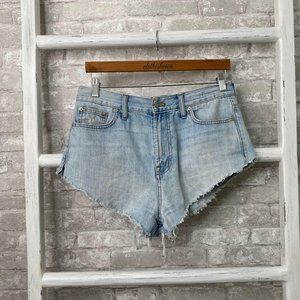 Madewell Light Wash Denim Cut Off Shorts Size 29